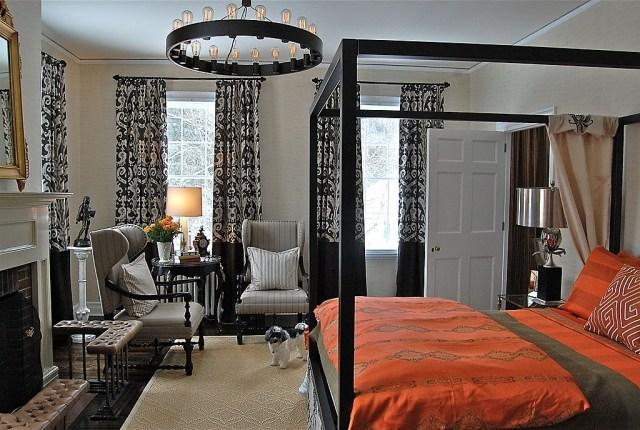 Paleta de colores para el dormitorio es hora de un cambio for Cortinas naranjas