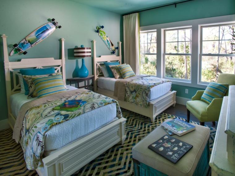 Habitaciones chicos y aires tropicales de diversi n - Impressive images of blue boy bedroom for your great sons ...