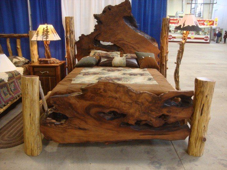cama rustica idea natural amplia resistente