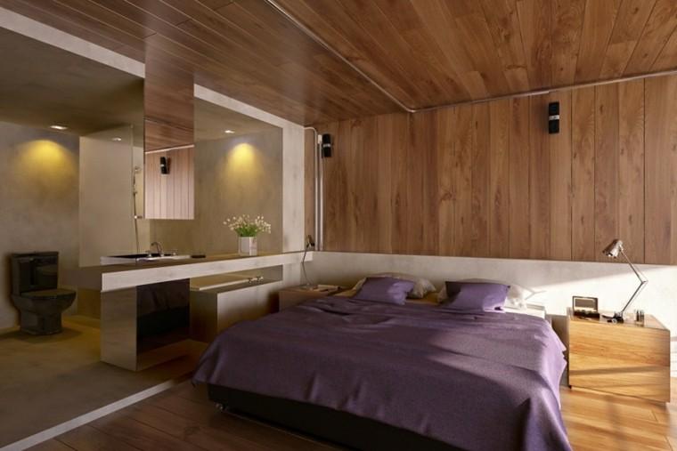 cama color violeta laminado madera
