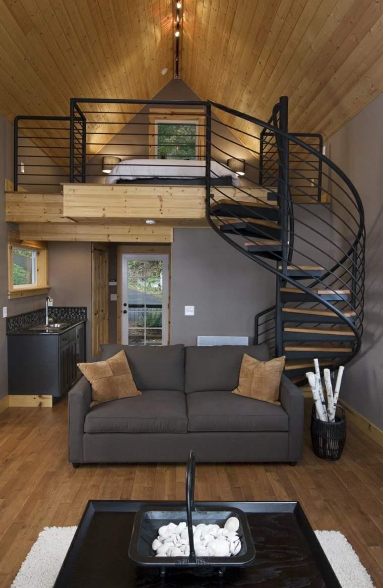 camas diseño escalera metal espiral