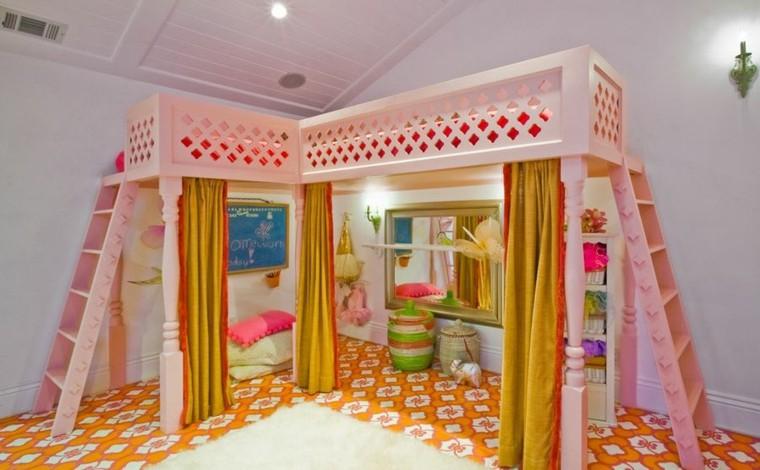 camas diseño rosa niñas jueguetes cojines