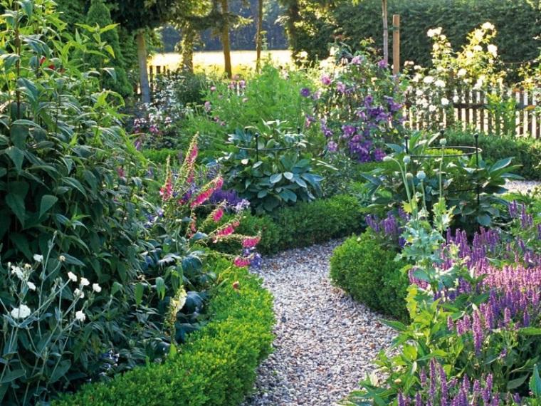 piedras de ro camino jardin bonitas flores colores