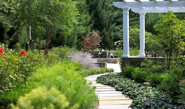 camino jardin curvas laminas hormigon ideas
