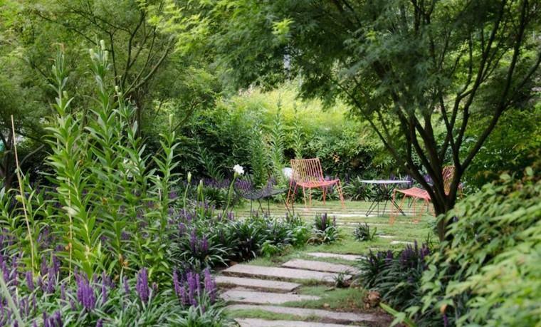 camino jardin laminas piedra lugar descanso ideas