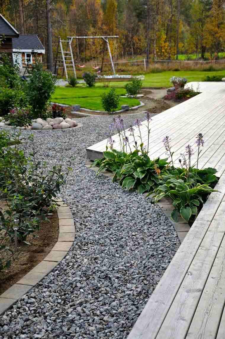 Camino de jard n ideas atractivas piedras losas y baldosas - Losas de hormigon para jardines ...