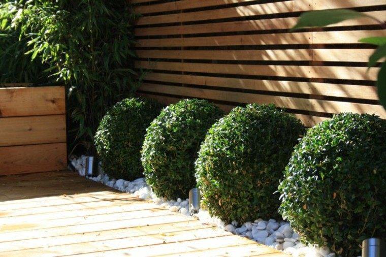 Dise o de jardines peque os y modernos 50 ideas for Separadores de jardin