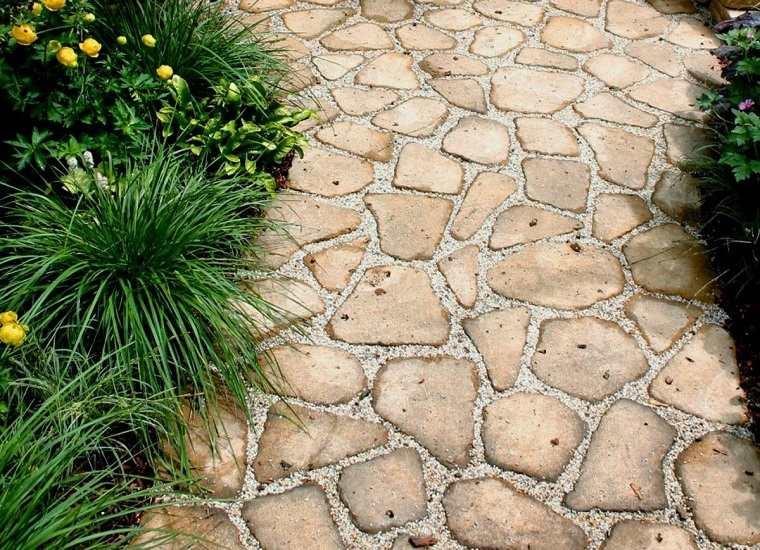 camino-piedras-grava-diseno-estilo