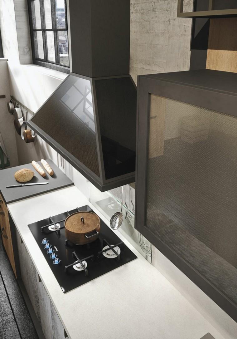 campana cocina diseño estilo industrial