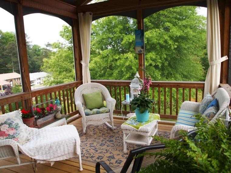 campestre estilo muebles decoracion balcon