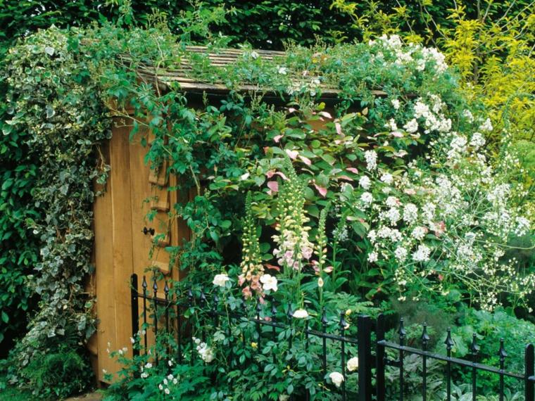 cargado espacio jardin casa madera