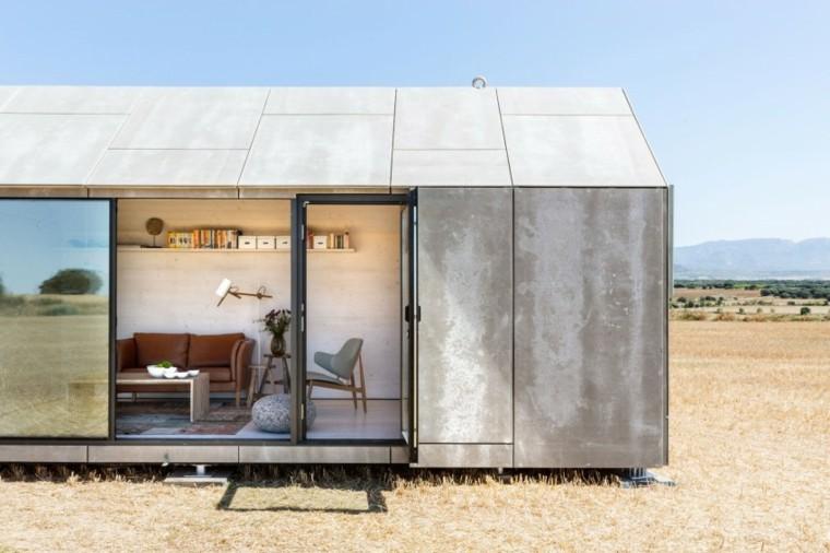 casa abierta movil cemento salon