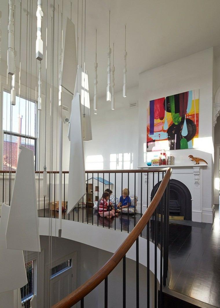 casa chimenea blanca cuadro arte decorativo ideas