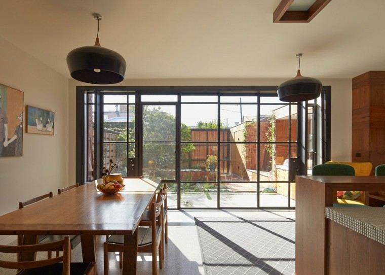 casa cocina ventanal luminosa muebles madera ideas