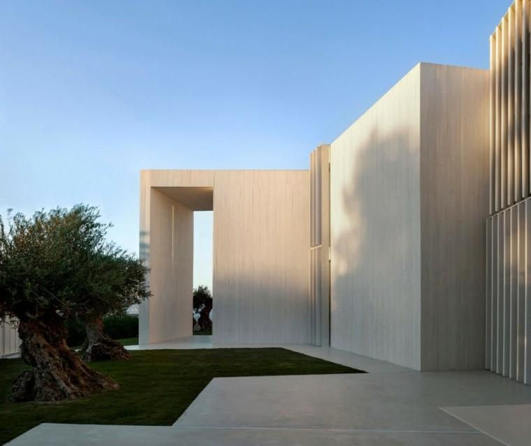 casa jardin trasero minimalista bonsai grandes decoracion moderna