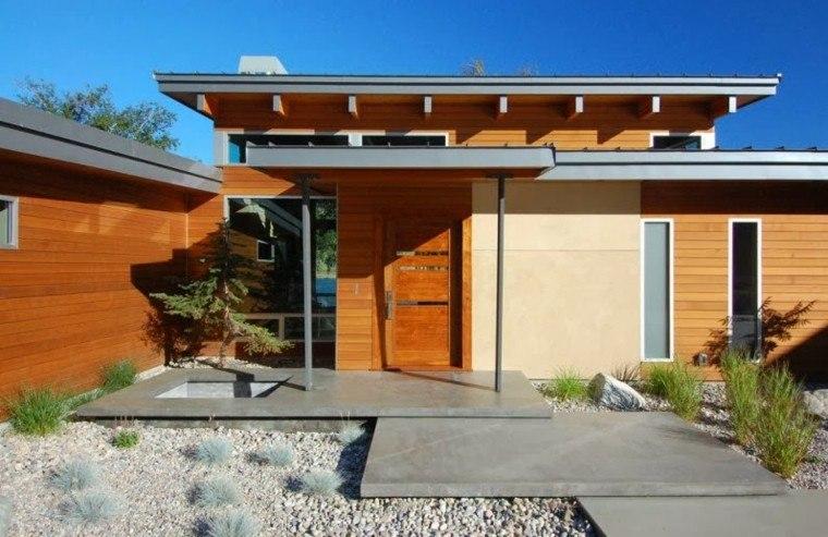 Revestimiento de paredes exteriores 50 ideas for Techumbres modernas