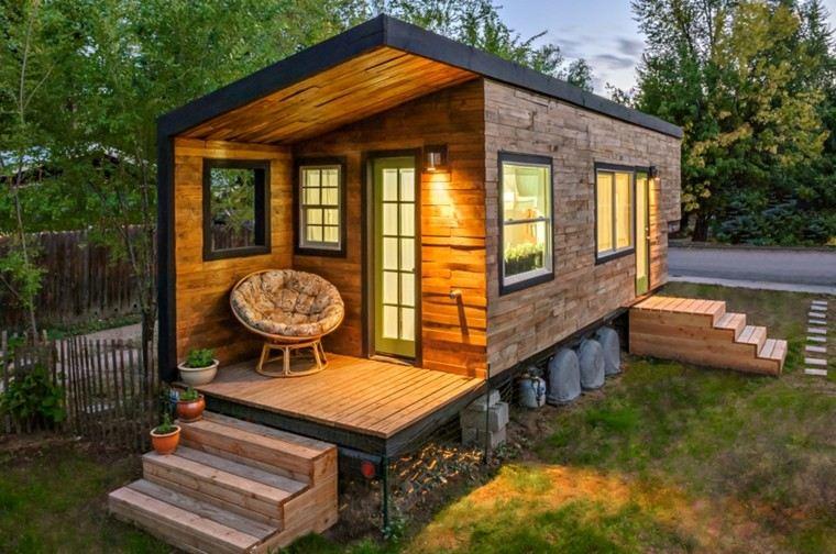 casa moderna pequeo madera relieve