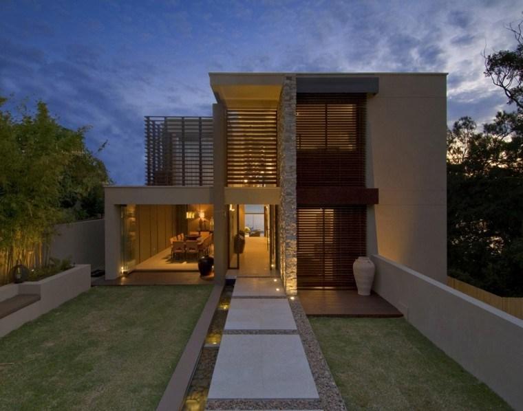 Revestimiento de paredes exteriores 50 ideas for Loft modernos exterior