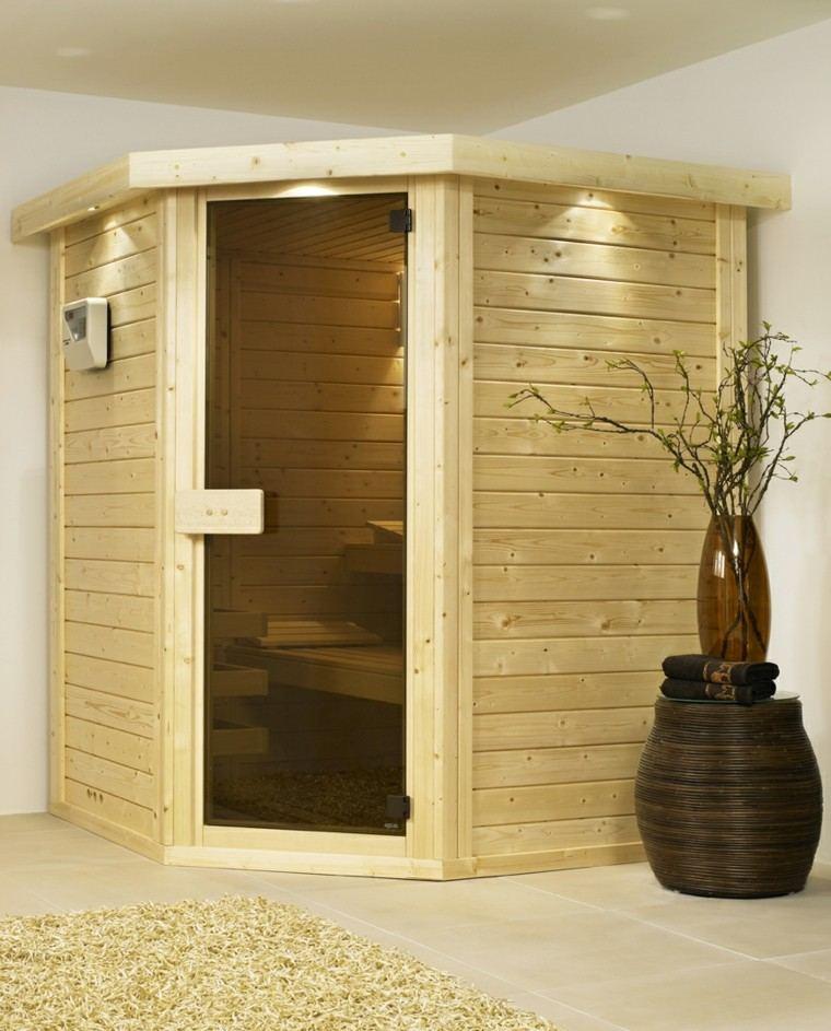 casa baño madera pino claro