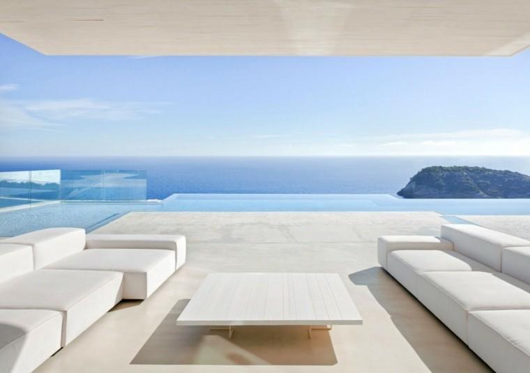 casas vistas muebles blancos mesa cafe preciosa ideas