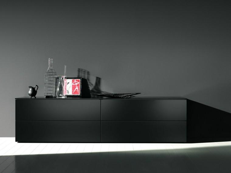 centro ocio mueble color negro