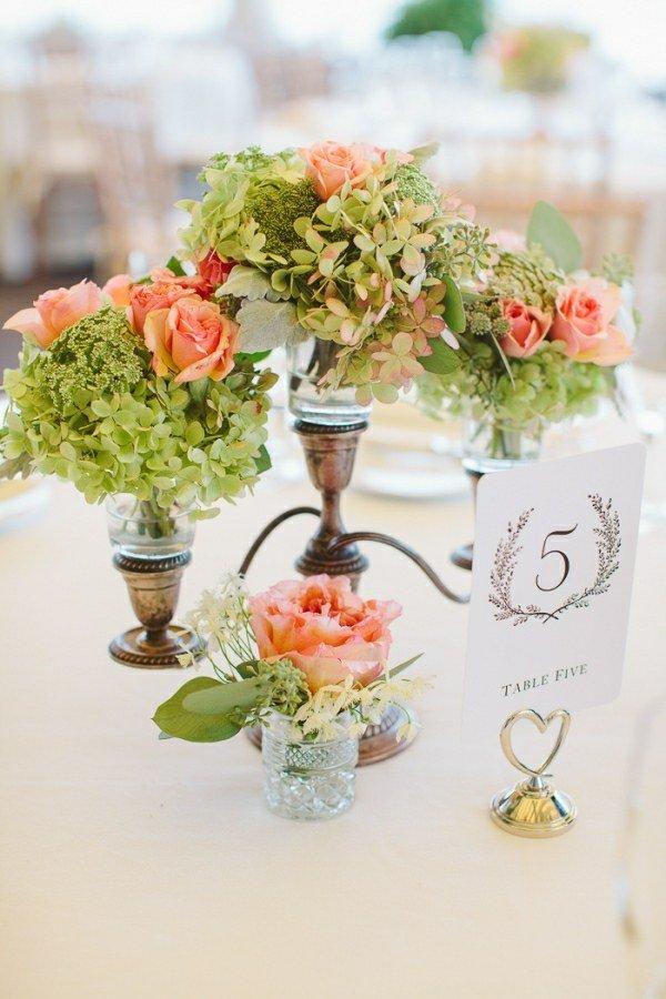 centros mesa manteles blancos boda