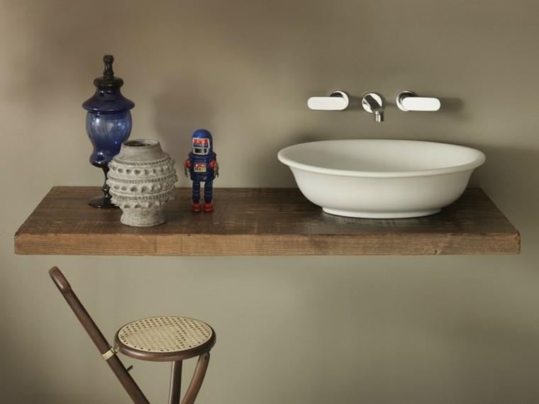 ceramica flaminia lavabo moderno madera