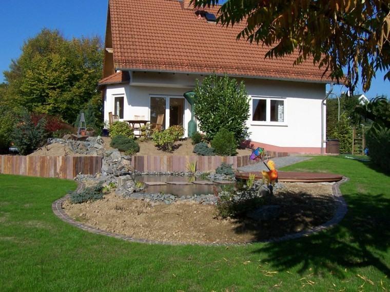 cesped diy jardin arboles casa diseño