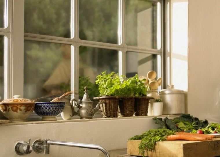 cestos mimbre especias naturales cocina