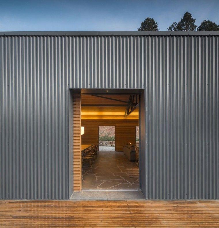 chapa gris industrial caseta fachada