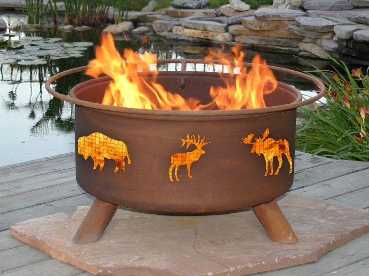 chimenea pozo fuego animales gas