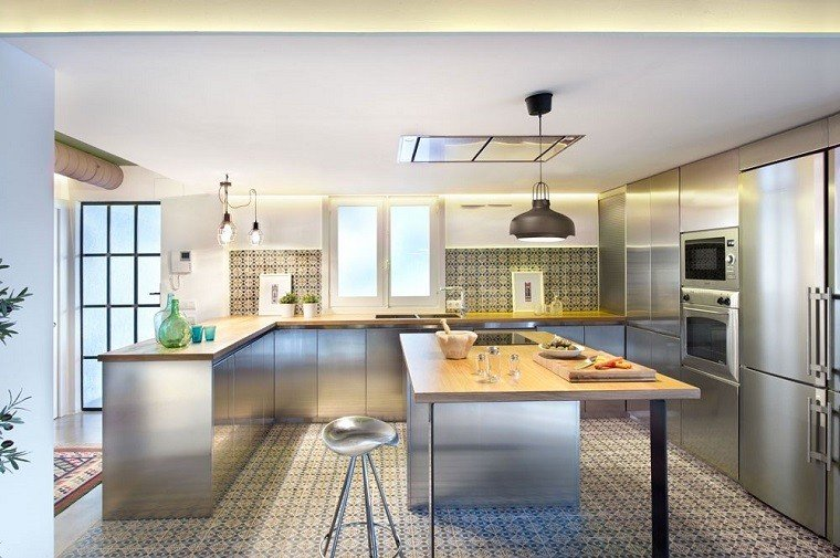 cocina acero piso benicassim apartamento