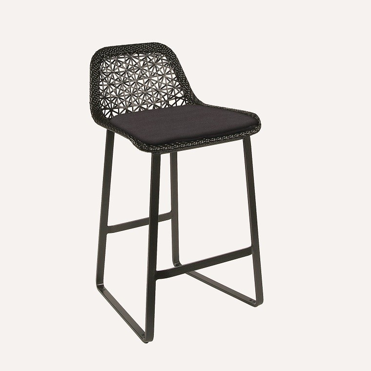 cocina bar silla diseño tejido