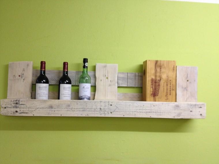 cocina botella madera palets soporte