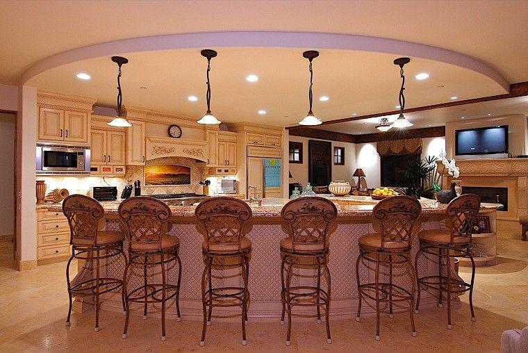 cocina calido elegante forja muebles