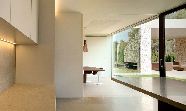cocina diseño vistas jardin