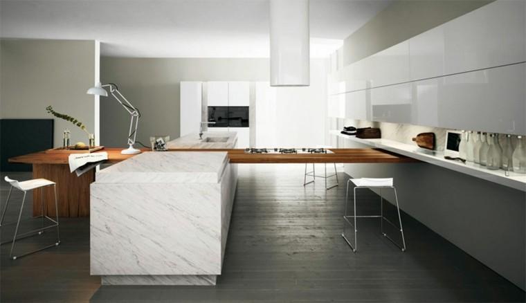 cocina diseno lujo moderna marmol ideas