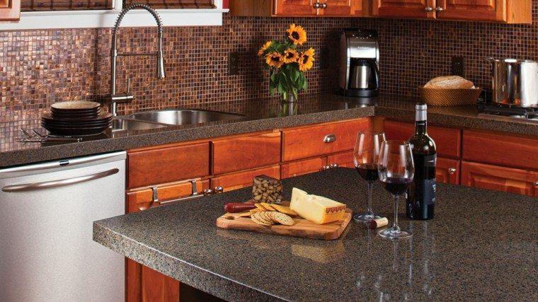cocina encimeras isla muebles marmol ideas modernas - Marmol Cocina