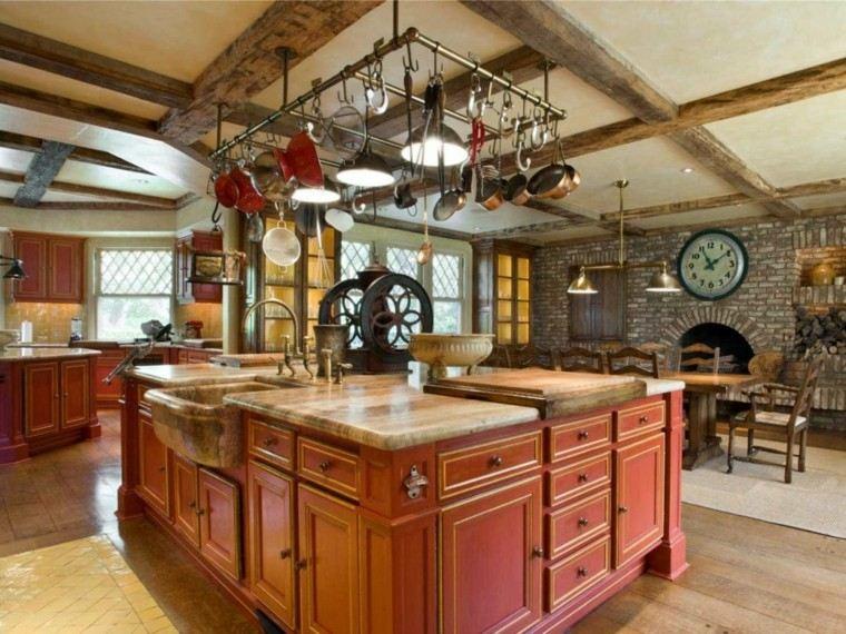 cocina estilo rustico lavabo encimera marmol preciosa