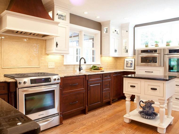 Muebles vintage en la cocina ideas a lo cl sico muy - Cocinas vintage blancas ...