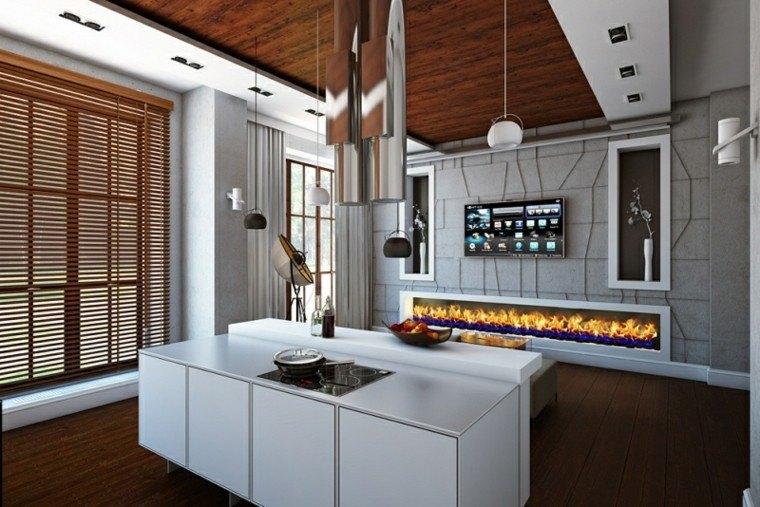 Interiores modernos 65 ideas para la decoraci n - Cocina moderna madera ...
