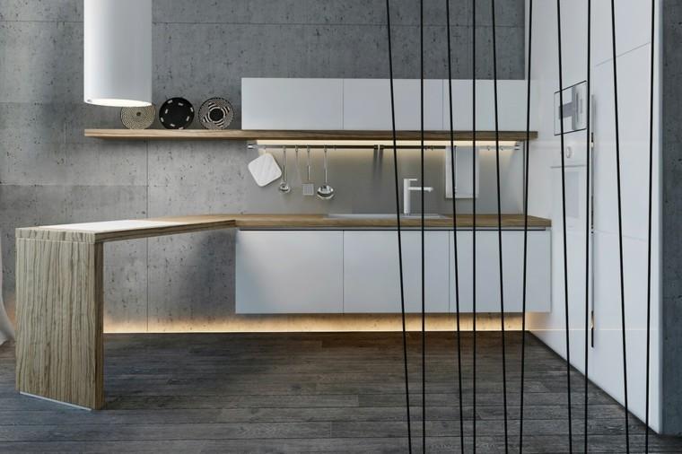 cocina moderna loft estudios gris