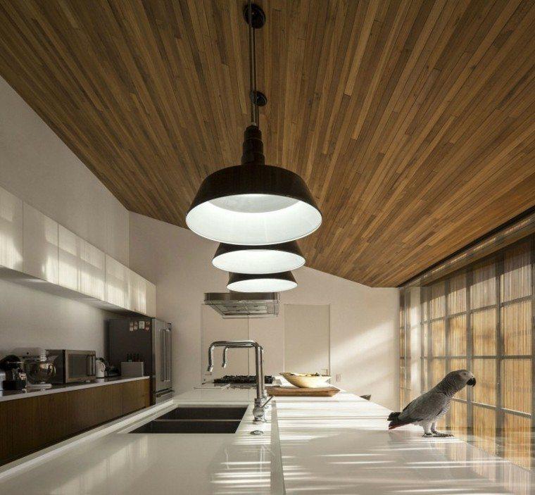 Techos de madera cincuenta ideas modernas for Materiales para techos de madera