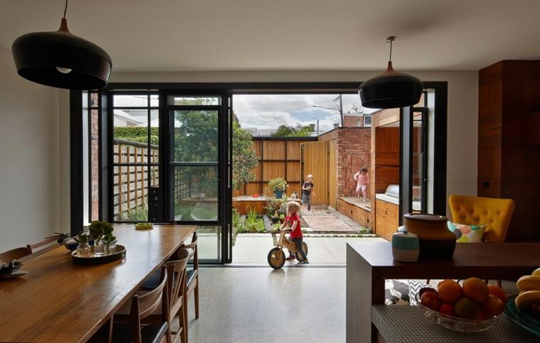cocina moderna mesa sillas madera casa ideas
