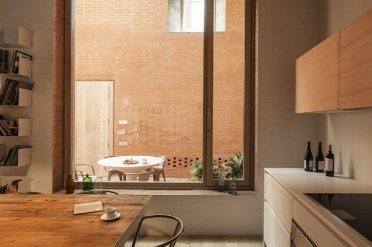 cocina moderna vistas patio muebles