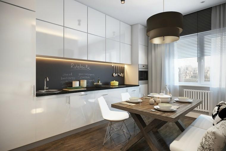 cocina moderna pared pizarra