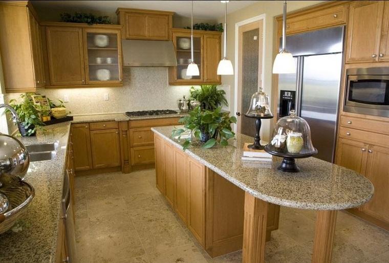 Encimeras de cocina de m rmol elegancia y estilo atemporal - Isla para cocinas pequenas ...