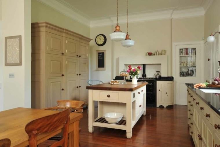 cocina estilo tradicional encimera madera