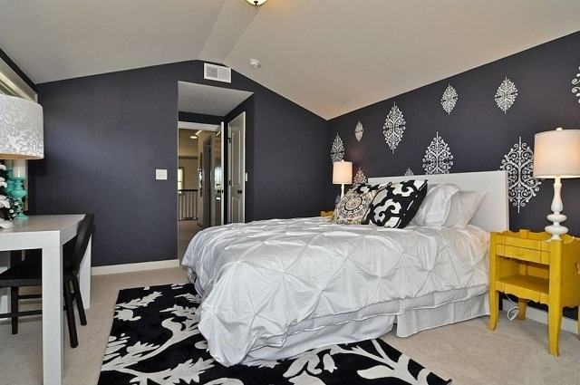 Paleta de colores para el dormitorio es hora de un cambio for Cuarto azul con gris