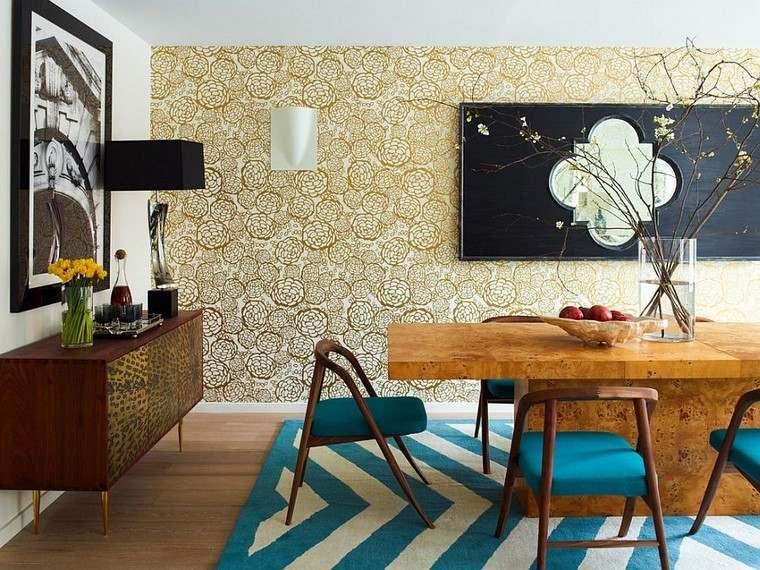 Papel para paredes en comedores con mucho estilo -